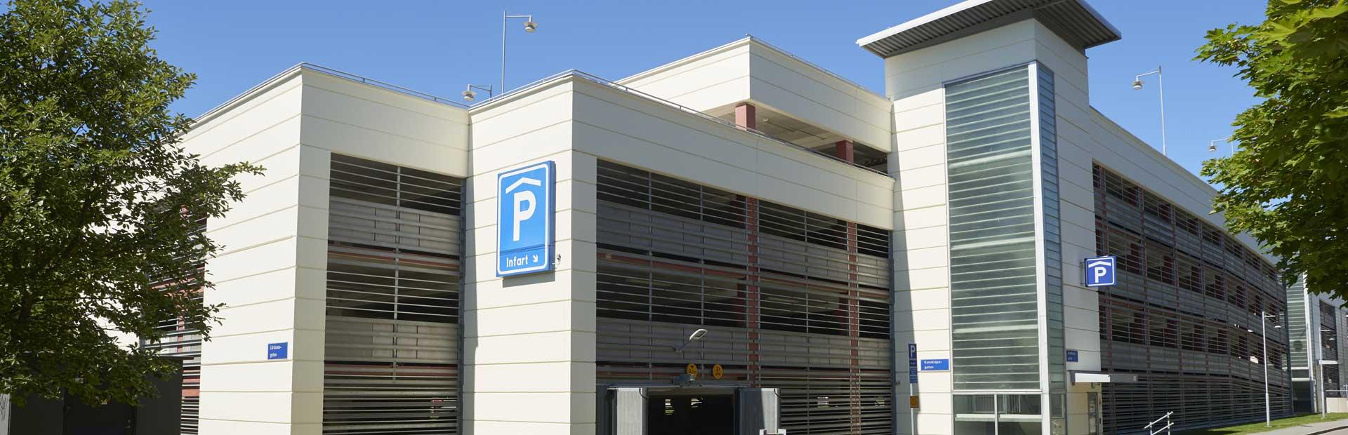 Bild på en parkeringhus i Göteborg