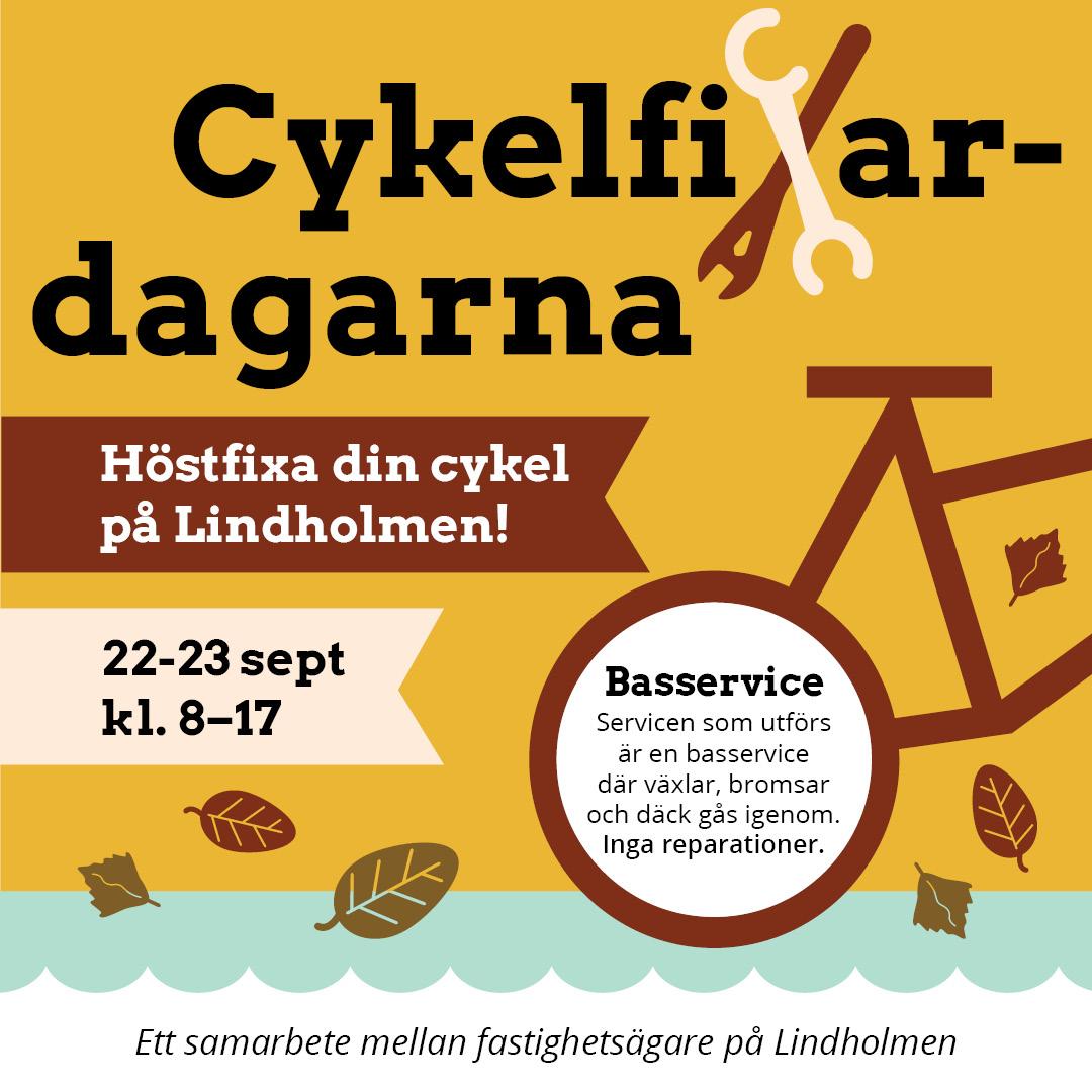 Bild på cykel service annons